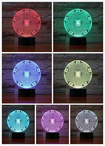 3D Optische Täuschung Nachtlicht TSV 1860 München Smart 7 Farben LED Touch Tischlampe für Kinder Geburtstag Weihnachten Valentinstag Geschenk