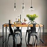 KARAKTER-MÖBEL Esstisch Tisch 180x90 Massiv Holz Mango Metall Design Industrie Loft Retro