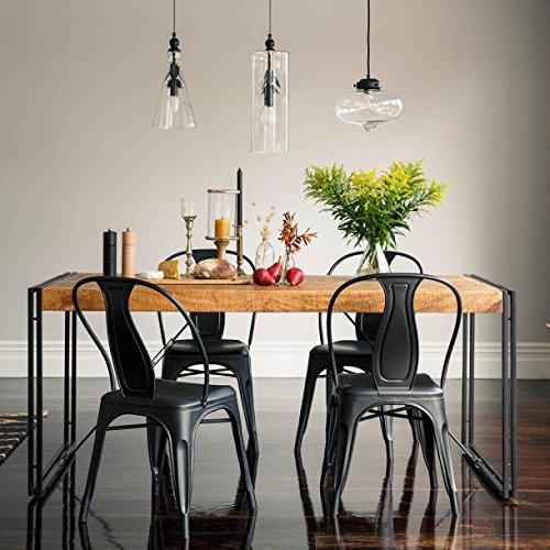 KARAKTER-MÖBEL Esstisch Tisch 180x90 Massiv Holz Mango Metall Design Industrie Loft Retro Neu