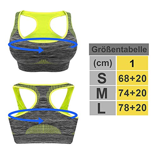 Trend4you - Soutien-gorge - Femme Multicolore Multicolore Jaune