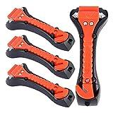 Dandelionsky 4pcs Safety Car Hammer Seatbelt Cutter Antiscivolo Finestra Interruttore di Emergenza di Salvataggio Auto Sicurezza Martello Kit