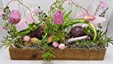 Tischgesteck Frühlingsgesteck Blumengesteck Tulpen Blumenzwiebeln Schmetterling