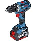 Bosch Professional 18V Akkuschrauber GSR | GSB 18V-60 C 2 x 5,0 Ah Akku Ladegerät L-BOXX (18 Volt Max. Drehmoment: 60 Nm max. Bohrfutter: 13 mm max. Schrauben-Ø: 10 mm)