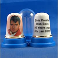 Chine en porcelaine à collectionner dé à coudre Elvis Presley 80e Anniversaire