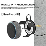 AhaStyle ABS Wall Mount Stand Hanger Holder【Need to Drill】[Built-in Cord Management] Compatible with Dot 3rd Generation (Black)