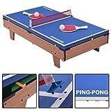Multifunktionsspieltisch Multi-Spieltisch Multigame 4 in 1 Tischfußball Billard Tischtennis Hockey - 4