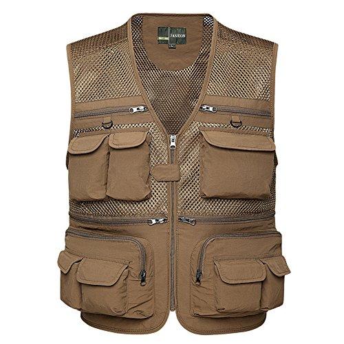 Weste, Breathable Multi-Tasche Reißverschluss Netz Weste Angeln Vest für Jagd Angeln Camping ()