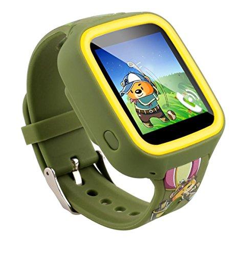 Preisvergleich Produktbild Joyeer Smart Watch Kinder Sim Karte GPS Tracker Anti-verloren Zwei-Wege-Anruf SOS Notfall Wecker Kinder Touchscreen Smartwatch für Android iPhone , green