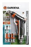 Gardena Bewässerungssets, Premium Grundausstattung, blau/orange/schwarz/grau/türkis, 18 x 28,5 x 4...