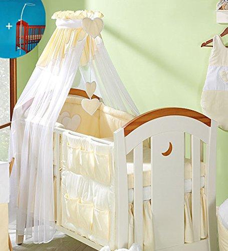 Baby Comfort Betthimmel für Babybett, 480cm breit, mit Ständer und Halterung