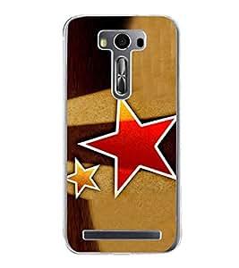 Red Star 2D Hard Polycarbonate Designer Back Case Cover for Asus Zenfone 2 Laser ZE500KL (5 INCHES)