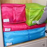 EasyBuy India S, Red : Blueee/Red Delicate Hot New Storage Box Portable Organizer Non Woven Clothing Pouch Holder Blanket Pillow Underbed Storage Bag Box Amazon Rs. 676.00