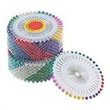 480Pcs Multi Round Testa di perla Spille per matrimoni Matrimoni Corsage Fioristi Strumenti di cucito Donne Mini palla Accessori artigianali fatti a mano