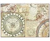 Reis-Papier Astronomie, Stamperia, 48x33cm, Decoupage-Reis-Papers, Hobby-Farben