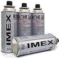 Gaskartuschen Imex | 8 Stück | für Gaskocher Butan