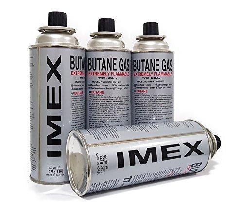12 Stück, Gaskartuschen für Gaskocher, Butan Gas Imex, MSF-1a, 227g