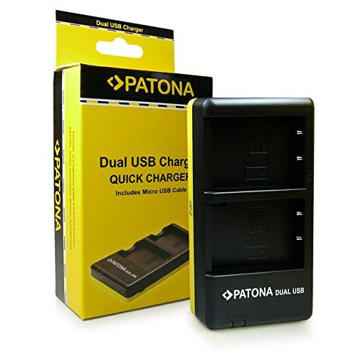 PATONA Dual Cargador BLS5 para Bateria Olympus E-450 OMD E-M10 Pen E-P3 E-PL1 E-PL2 E-PL3 E-PL5 E-PL6 E-PL7 E-PM1 E-PM2 Stylus 1 Stylus 1s con Micro USB