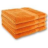 Gräfenstayn 4er Handtuch-Set 50x100cm aus 100% Baumwolle - verschiedene Farben - mit Öko-Tex Siegel Standard 100: