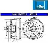 ATE 24021800321 tambor de freno