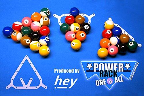 Preisvergleich Produktbild Power Rack One 4 All,  8-Ball,  9-Ball,  10-Ball Pool Billard Aufbauschablone