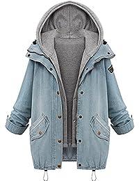 Chica De Moda,Invierno Abrigo, Longra ❤ Chaqueta de mujeres Abrigo largo caliente Cuello de piel con capucha…