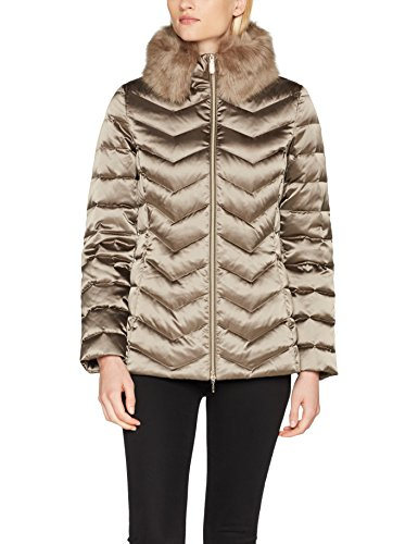Geox Damen Jacke Woman Down Jacket, Braun (Bungee Cord F1432), Gr. 38 (Herstellergröße: 44) -