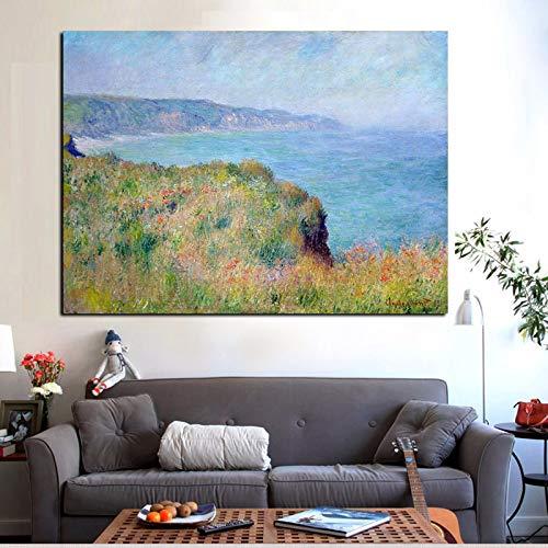Kunst Segeln Nordic Wandbild Boot Meer Leinwand Malerei für Wohnzimmer Dekoration (Kein Rahmen) A3 60x80 cm