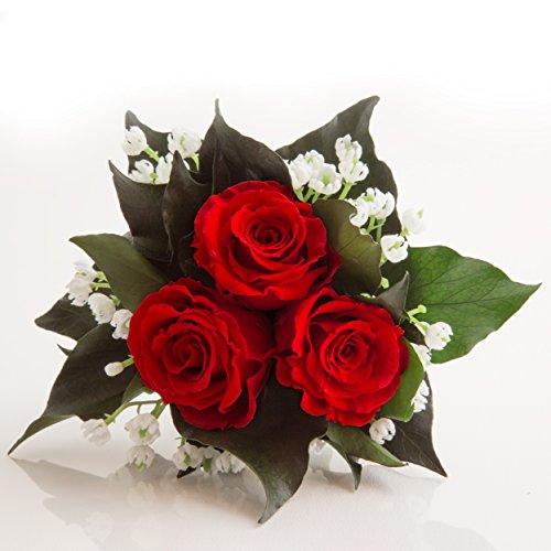 Blumenversand Blumenstrauß mit exklusiven, konservierten langhaltenden Rosen Brautstrauß für...