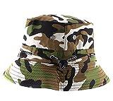 Natuworld cotone secchio cappello mimetico rotondo tesa Boonie Bush Safari pesca cappello estivo per unisex da uomo e da donna, Uomo, #3 Camo