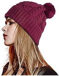 ee5471ae6abc0 FREETOO Sombrero Hecho Punto Sombrero Beanie Hat Acrílico para el Otoño  Invierno Unisex un Tamaño (