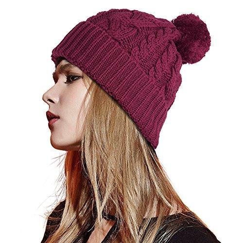Popular Brand New Women Winter Hats Men Velvet Beanie Warm Knitted Hat Solid Color Crochet Ski Beanie Cap Bonnet Femme Winter Skullies Beanies Sophisticated Technologies Men's Skullies & Beanies Men's Hats