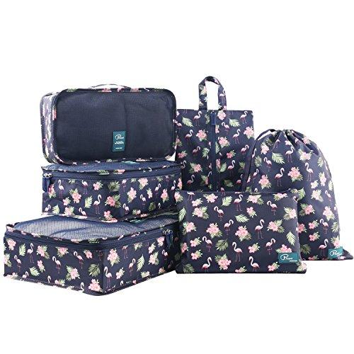 Cubos de embalaje 6 Set de Organizador de viaje con Bolsa de Zapato, I