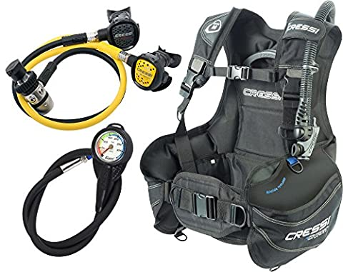 Cressi Start Scuba Diving Set - B.C.D. Start+1st Stage AC2+2nd Stage Compact+Octopus Compact+ Instrument Pressure