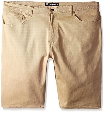 Akademiks Men's Big-Tall Big and Tall Shady Stretch Shorts, Khaki, 46