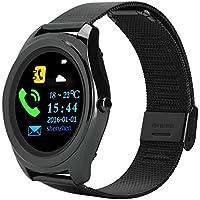 Eboxer Pulsera Elegante Impermeable Reloj de Bluetooth Pulsera de Actividad Monitor del Ritmo Cardíaco Pantalla LCD DE 1.3 Pulgadas(Negro)