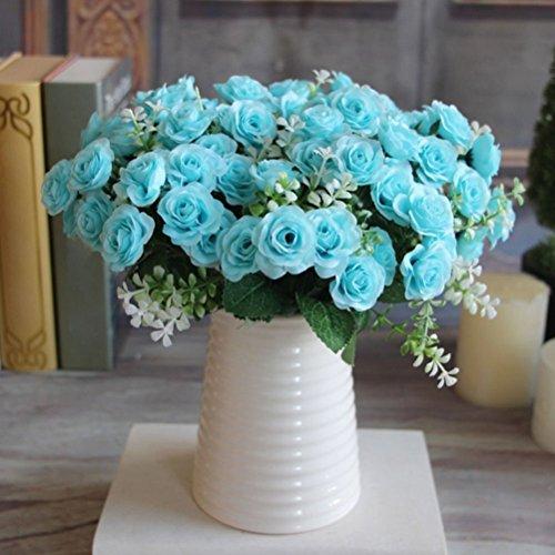 1 ramo 15 rosas artificiales decoración hogar, Navidad