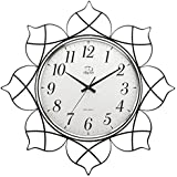 JJD 12En Un Estilo Moderno Y Minimalista Iron Lotus Reloj De Pared Personalizado Chino Creativa Salón Dormitorio Estudio Mute Relojes Reloj De Pared