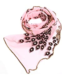 HENGSONG Women Ladies Peacock Printed Scarf Shawl Wrap Stole