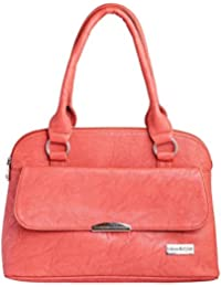 LB- Hand Bag For Women And Girls Durable Spacious Designer Handbags With Multi Compartments Pink,LB-313