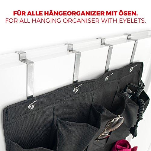 mdcasa t rhaken edelstahl geb rstet f r die r ckseite 4 st ck kleiderhaken t r. Black Bedroom Furniture Sets. Home Design Ideas