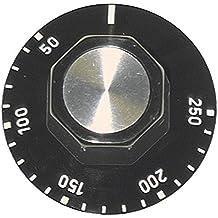 Knebel für Thermostat Achsabflachung links zum Klemmen ø 27mm grau