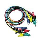 Tutoy P1024 5 Colores 100Cm 15A Doble-Terminado Clips Cable Cocodrilo Prueba Sonda Alambre