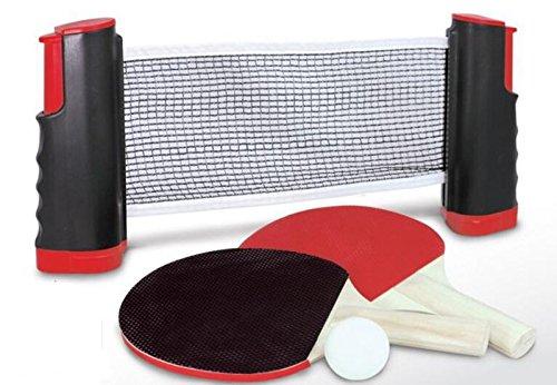 Funmate Retractable Instant Tischtennis-Set mit Ping-Pong Fledermäuse und Bälle