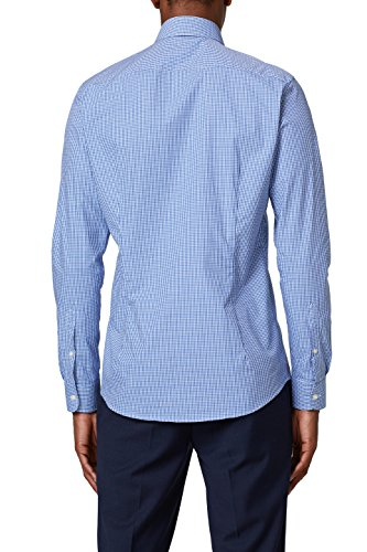 ESPRIT Collection Camicia Formale Uomo Blu (Dark Blue 405)
