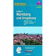 Bikeline Radkarte Nürnberg und Umgebung,Baiersdorf - Fürth - Fränkisches Seenland - Lauf - Neumarkt - Schwabach - Spalt, 1 : 75 000, wasserfest und reißfest, GPS-tauglich mit UTM-Netz