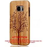 Galaxy S7 case, S7 Wooden Case Wood Cover CoCo@100% Unique Genuine Handmade Natural Wood Wooden Hard Bamboo Shockproof Case Like as Artwork for New Samsung Galaxy S7 G9300 (2016) (Christmas Wish Tree)