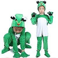 Matissa Disfraces de animales para niños Disfraz de pijama con capucha y unisex (Rana,