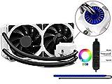 DeepCool Captain 240EX RGB Refrigeración Líquida CPU Silencioso AIO de Alto Rendimiento con Bomba RGB y Tira RGB, 2(120mm) PWM Ventiladores Silenciosos(AM4 Compatible, Adaptador Incluido), Garantía de 3 Años