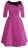 Robe de vintage couleur lune lait pour femmes -  rouge - 40
