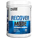 Evlution Nutrition Recover Mode Post Workout with BCAA's, Creatine, Glutamine, Beta-Alanine, L-Carnitine, Vitamins and More, 30 Serving (Blue Raz)